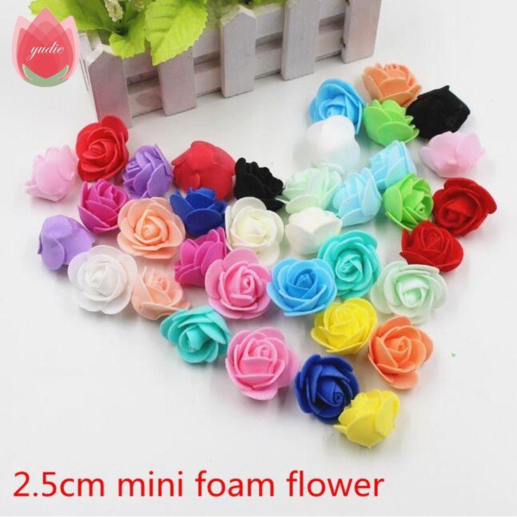 30 stks mini pe foam rose kunstbloemen voor bruiloft doos handgemaakte decoratie diy pompom krans valentijnsdag nep bloemen