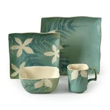 Image result for square green dinnerware