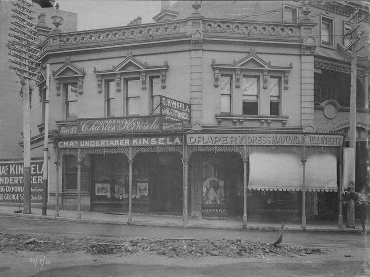 78 Darlinghurst Road, corner of Bayswater Road, Kings Cross, 1910. City of Sydney archives. History NSW