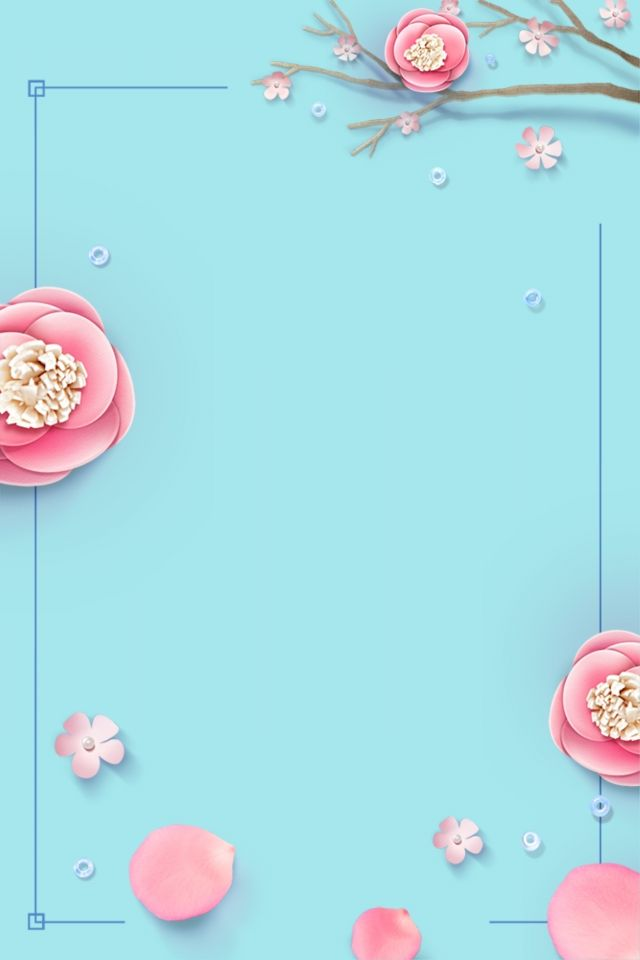 Tiffany Blue Hand Painted Flower Blue Flower Background Wallpaper Tiffany Blue Wallpapers Blue Flower Png