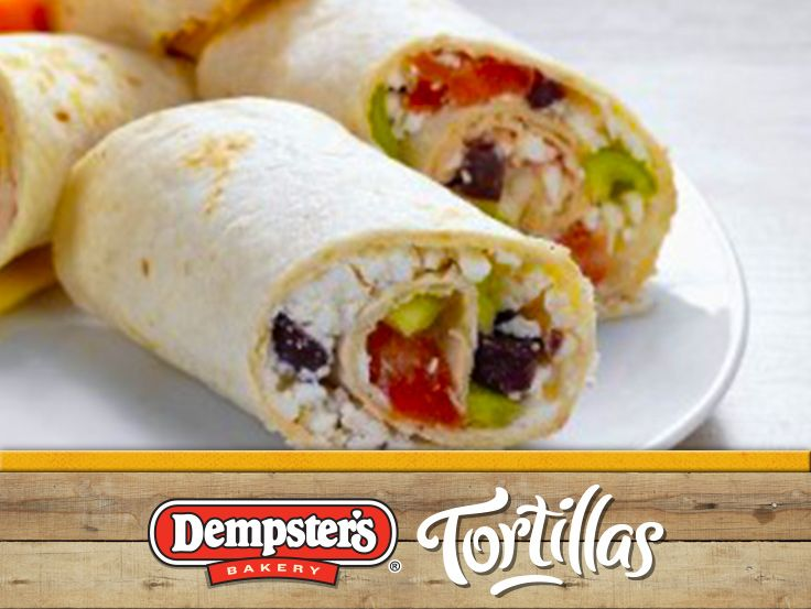Grab a Mediterranean Chicken Salad Wrap when you're on the go. @Dempster's® Bakery #WrapItUp