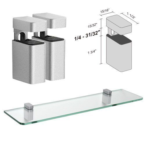 Dolle Uni Silver Adjustable Glass Shelf Brackets   Pair by Dolle   21 45   For Glass. 25  best Glass shelf supports ideas on Pinterest   Kitchen window
