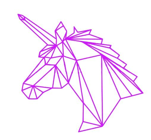 Origami Eenhoorn