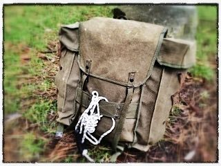 """Italian """"Alpini"""" canvas rucksack - Our """"Recon"""" Range – reconditioned classic military backpacks."""