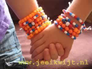 oranje voetbal WK armband maken