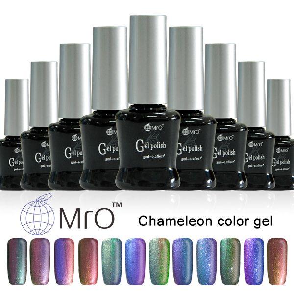 2017 New Arrival uv gel nail polish is a chameleon gel lucky esmaltes permanentes de uv magnetic nail polish nail glue harmony