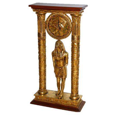 Basil Street Gallery Temple Amun Royal Egyptian Statue Table Clock