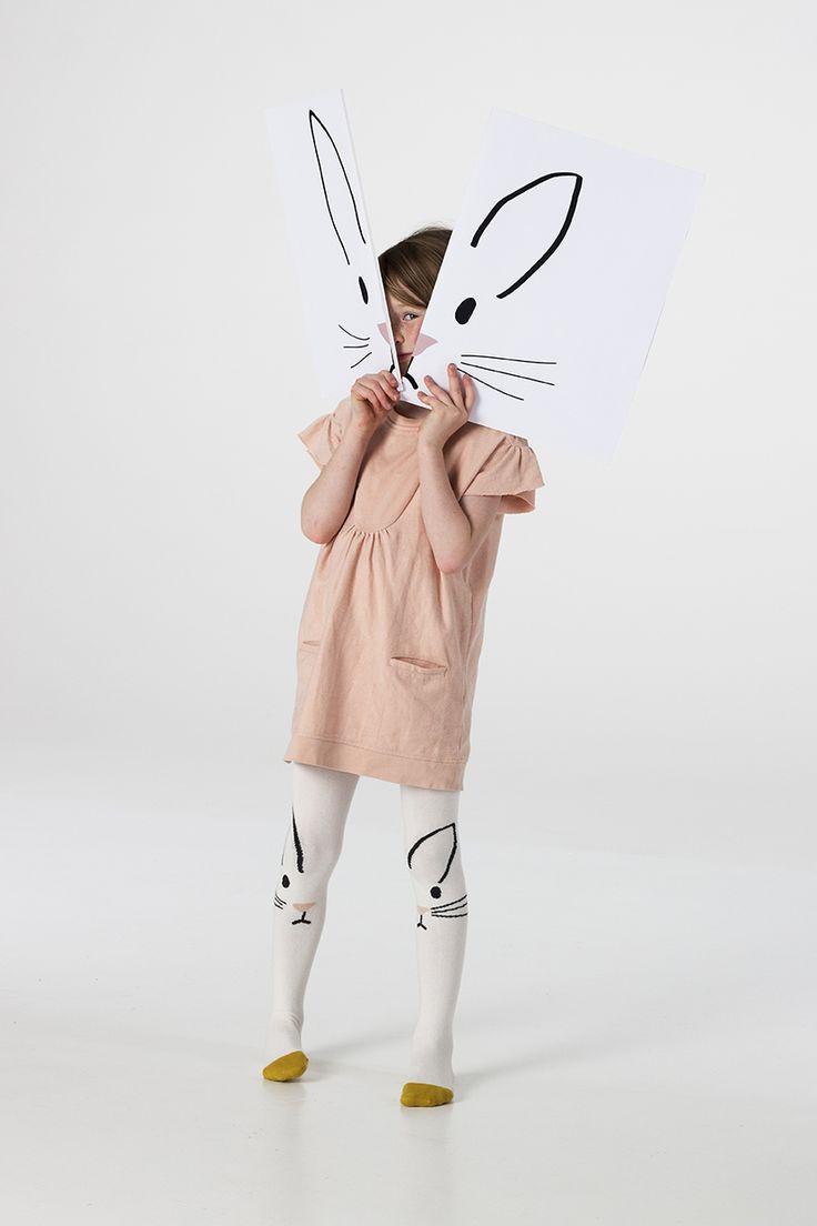 braveling Rabbit tights for children. www.lublue.co.uk