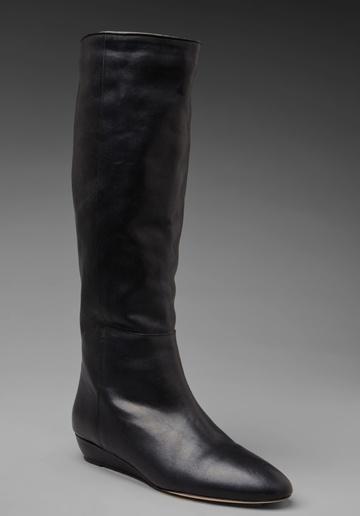 Loeffler Randall Classic Matilde Flat Boot in Black