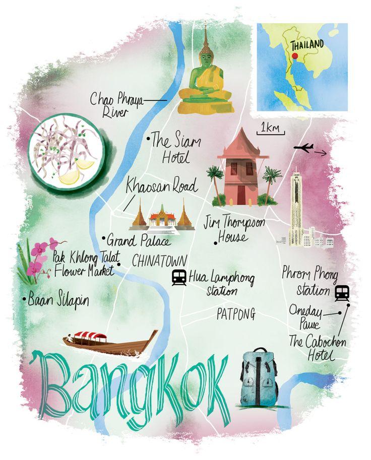 Bangkok map by Scott Jessop