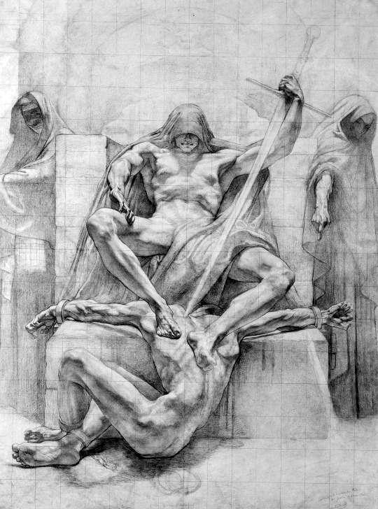 Delville, Jean - La Ley Moral, 1914 //  Jean Delville (1867–1953) was a Belgian symbolist painter, author, poet, polemicist, teacher, and Theosophist.