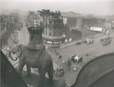 The Elephant and the Castle, London, 1940's.