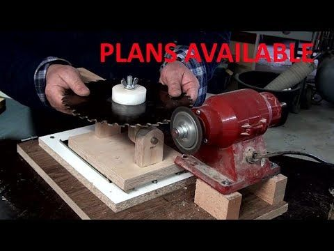 Table saw blades sharpening jig - YouTube