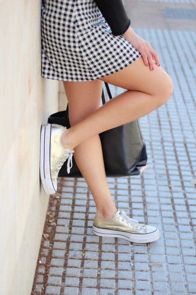 zapatillas converse con flecos