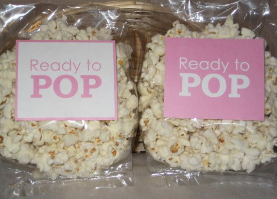 INSTANT DOWNLOAD - Printable - Ready to POP popcorn tags / labels For Baby Shower girl diy Digital File light pink 026 on Etsy, $8.00