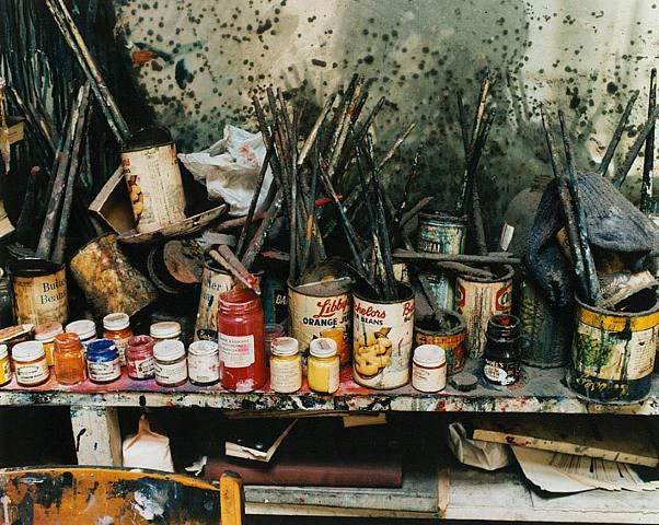 Francis Bacon studio at 7 Reece Mews photo by Perry Odgen