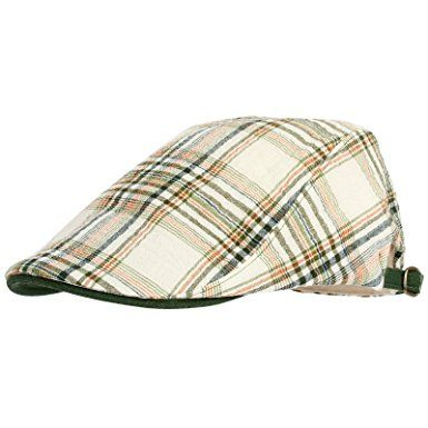 d871151f31922 WITHMOONS Summer Flat Cap Linen Plaid Check Pattern IVY Hat LD3075 Review