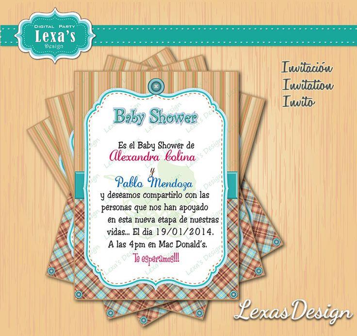 Inviti per Baby Shower Bambina de LexasDesign en Etsy