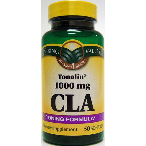 Spring Valley 50 Softgels 1000 MG Ea. Tonalin Cla Conjugated Linoleic Acid Dietary Supplement 50 CT $13  *Check tonalin http://proteinoffers.org