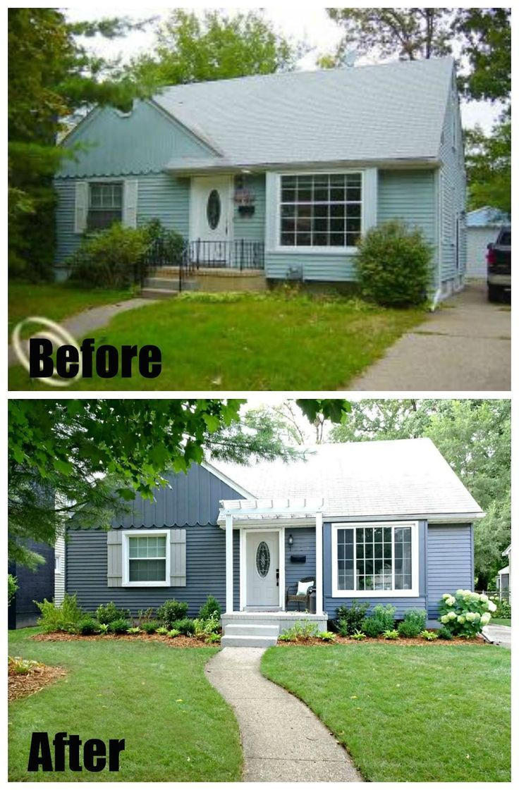 Best 25 before after home ideas on pinterest before for Before and after exterior home makeovers