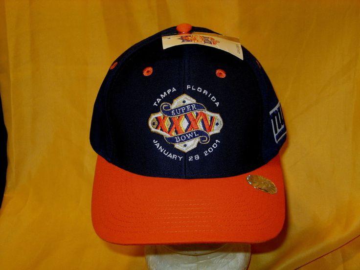 NEW YORK GIANTS Super Bowl XXXV - Vintage 2001 Embroidered SNAPBACK HAT New! NWT #LogoAthletic #BaseballCap