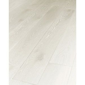Wickes Prussian White Real Wood Top Layer Engineered Wood Flooring