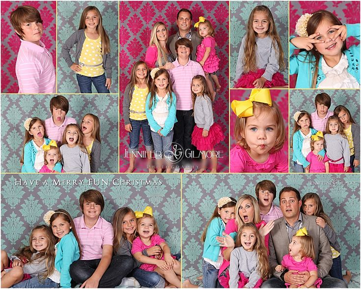 large family portrait, kids, children, photography, Newport Beach, Orange County, studio, funky backdrop, Gilmore Studios