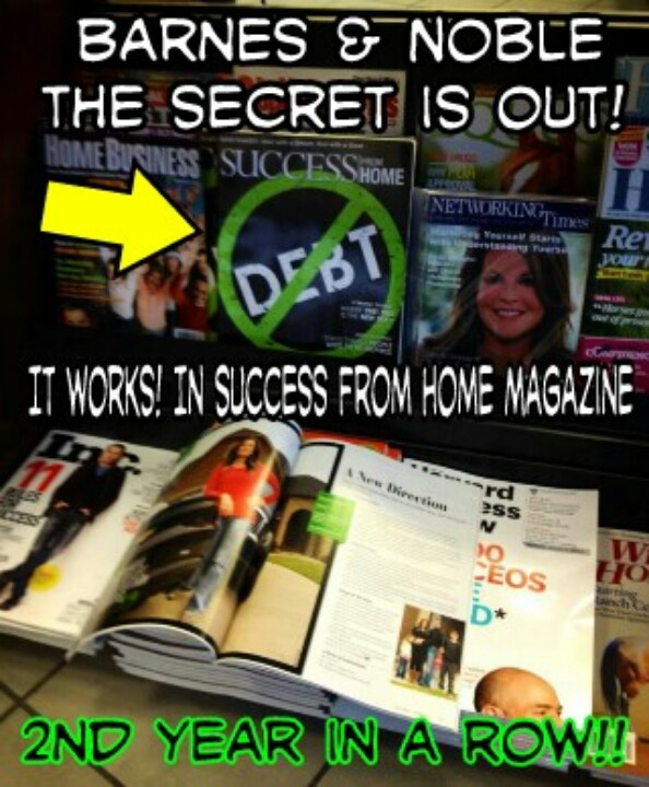 Why is It Works Global featured in Success from Home magazine for the 2nd year in a row?  They have helped many people become DEBT FREE and I would love to be one of them, how about you?  https://shellylewis.myitworks.com