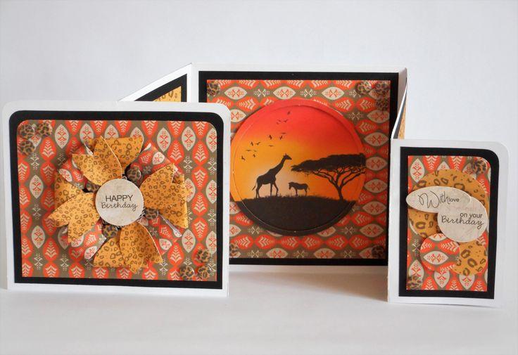 Gatefold Card made by Phillipa Lewis using Craftwork Cards Savannah Collection.