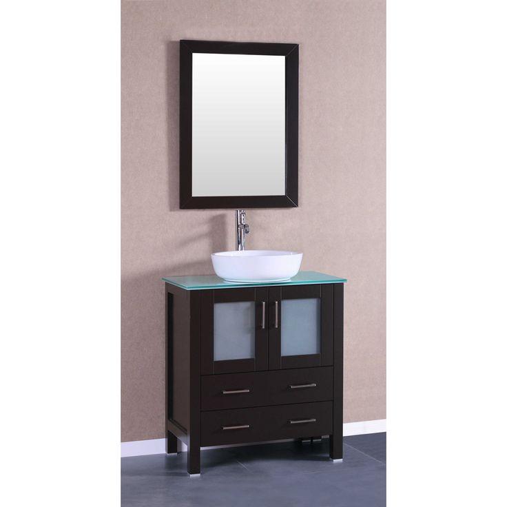 30-inch Bosconi AB130BWLCWG Single Vanity (30 Bosconi AB130BWLCWG Single Vanity), Brown Espresso, Size Single Vanities