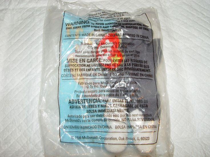 TY BEANIE BABIES-(NOOK-THE HUSKY)-1999 McDonalds-TEENIE ORIGINAL BEANIE #Ty