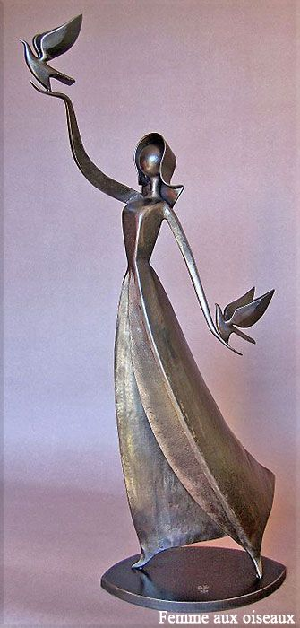 femme aux oiseaux Jean-Pierre Augier