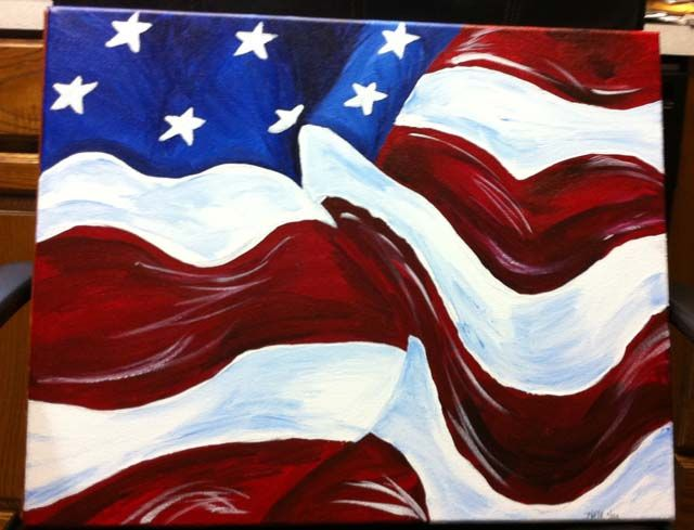 flags to paint on canvas | The flag is my favorite but I really have had a blast painting all of ...