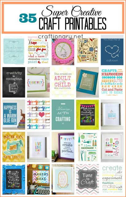 35 Adorable and creative Craft Printables