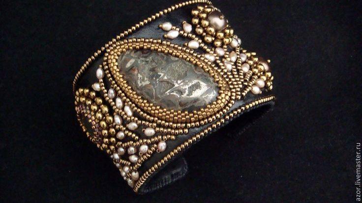 """Купить браслет""""Аини"""" - коричневый, браслет, Браслет ручной работы, бронзовый цвет, винтажный стиль by Roza Якимова"""