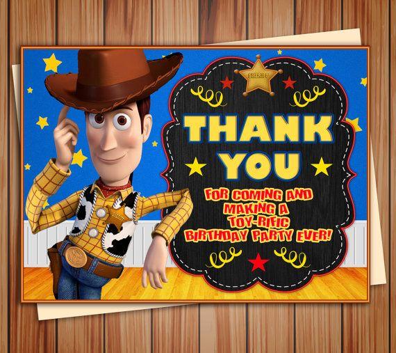 Foto de Woody toy story cumpleaños partido invitación pizarra