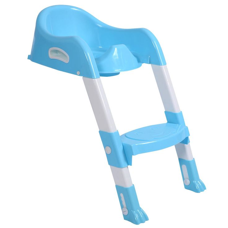 Kid Training Toilet Potty Trainer Seat Chair Toddler W/Ladder Step Up Stool