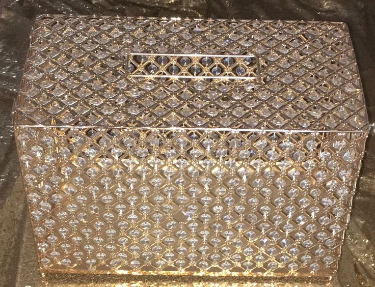 Crystal gold money box @triszanstworld