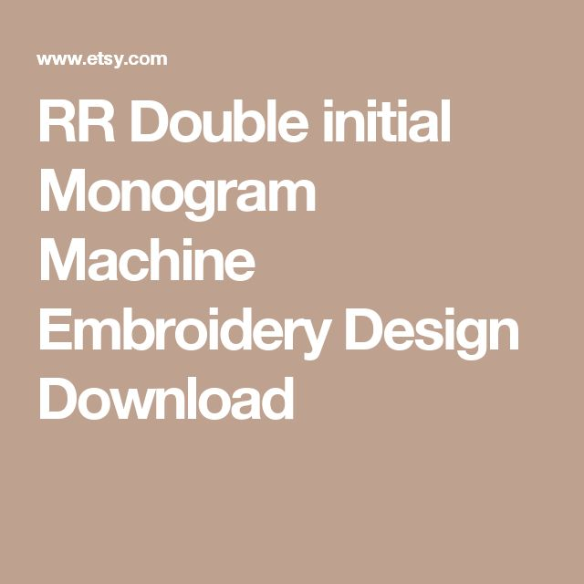 RR Double initial Monogram Machine Embroidery Design Download