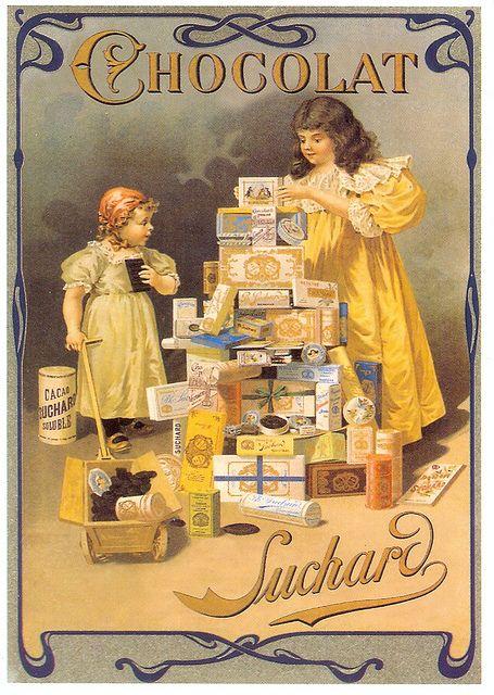 postcard - fr 123185 - reclame - chocolat by sonobugiardo, via Flickr
