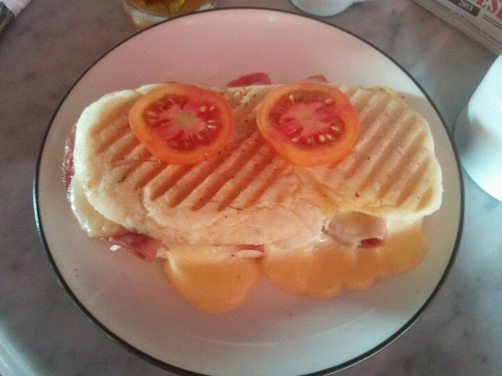 Italian grilled bread at Kopitiam Oey