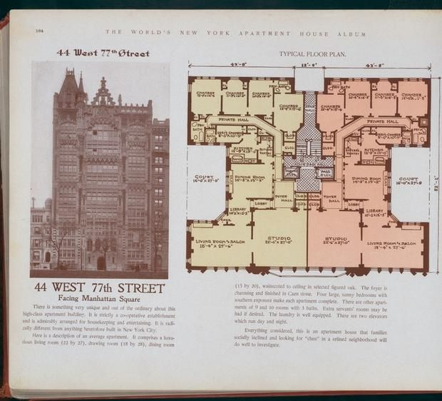 10 elaborate floor plans from pre wwi nyc apartments new for Apartment floor plans new york city