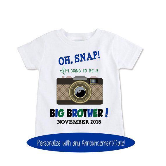 Big brother shirt birth announcement Camera Oh Snap by Exit17