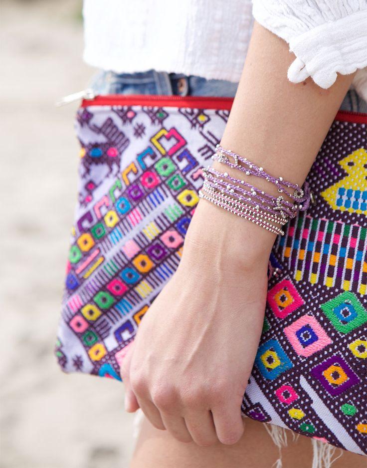 purple bracelets: