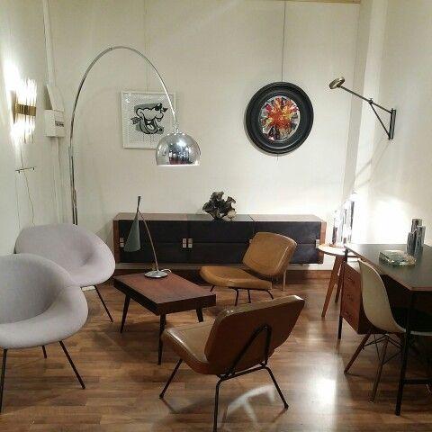 Ambiance années 50 design français, Claude Vassal, Pierre Paulin, Roger…