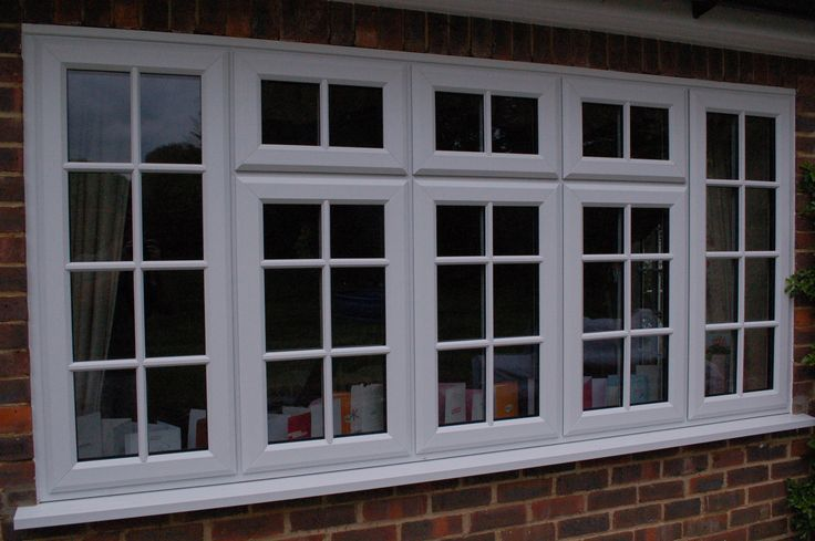 White UPVC Casement Kommerling window with astragal glazing bars. Georgian Bars cottage windows ksehome.co.uk
