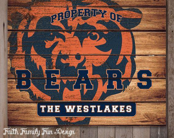 NFL Chicago Bears Team Sign Printable. by FaithFamilyFunDesign