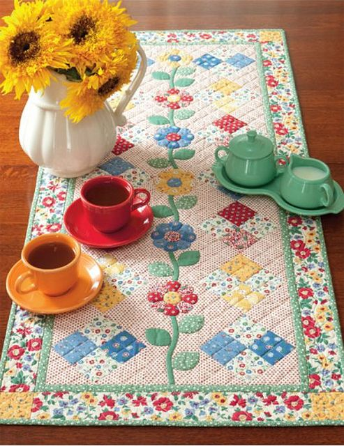 what an adorable table runner, so cute and happy.