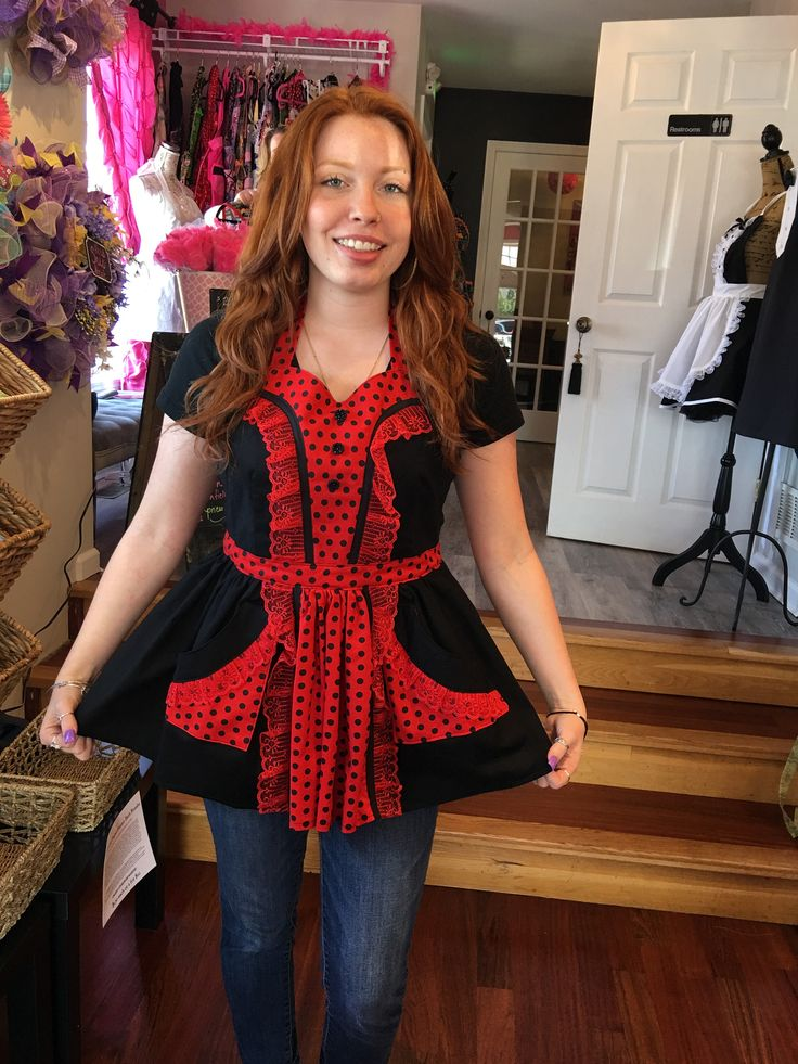 Short and Sexy Red Apron (402 by MothersApronString on Etsy https://www.etsy.com/listing/476028007/short-and-sexy-red-apron-402