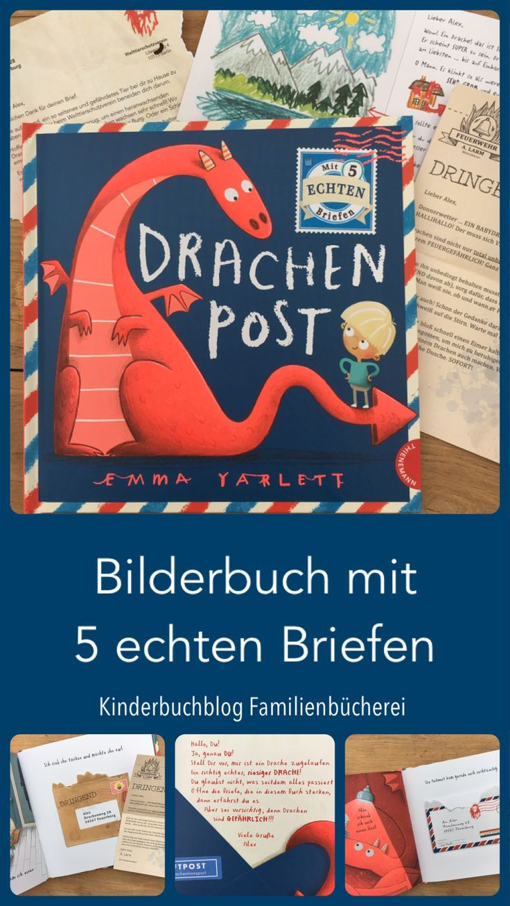 Drachenpost – A picture book with 5 real letters